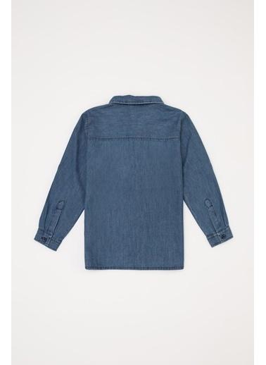 DeFacto Erkek Bebek Jean Gömlek Mavi